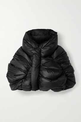 Moncler + Rick Owens Cropped Quilted Shell Down Jacket - Black