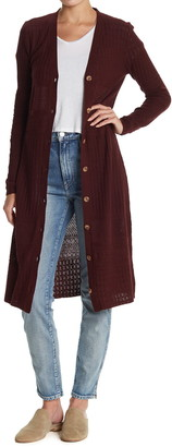 Sanctuary Open Knit Duster Cardigan Sweater