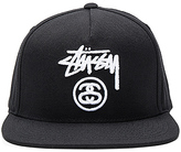 Stussy Stock Lock Hol 16 Snapback in Black.