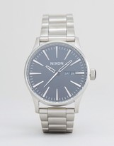Nixon Sentry SS Bracelet Watch In Silver