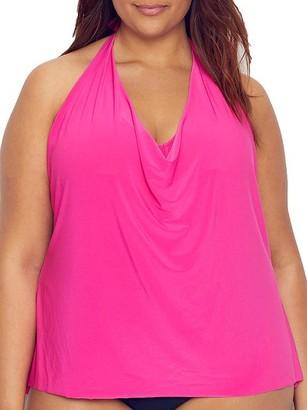 Magicsuit Plus Size Solid Sophie Underwire Tankini Top