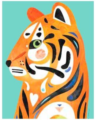 Maxwell & Williams Pete Cromer Wildlife Tea Towel 50x70cm Tiger