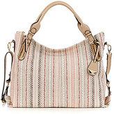 Jessica Simpson Ryanne Striped Top-Zip Tote