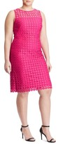 Lauren Ralph Lauren Plus Size Women's Dot Lace Sheath Dress