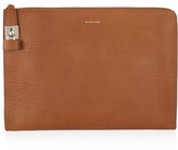 Michael Kors Textured-Leather Clutch