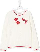 Miss Blumarine glittery logo jumper
