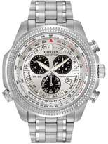 Citizen Mens Eco-Drive Stainless-Steel Alarm Chronograph Watch