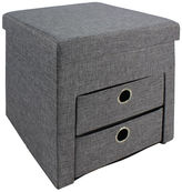 Asstd National Brand Folding Ottoman with 2 Drawers