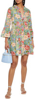 Thumbnail for your product : Anjuna Lucia Tiered Embellished Floral-print Broderie Anglaise Cotton Mini Dress