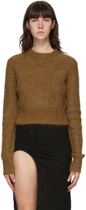 Helmut Lang Tan Alpaca Shrunken Sweater