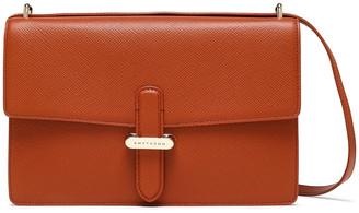 Smythson Panama Mini Textured-leather Shoulder Bag