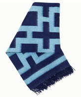 Jonathan Adler Blue Nixon Throw