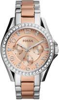 Fossil Women's Riley Two-Tone Stainless Steel Bracelet Watch 38mm ES4145
