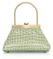 Cult Gaia Women's Mini Estelle Croc-Embosed Leather Top Handle Bag