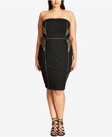City Chic Trendy Plus Size Strapless Bodycon Dress