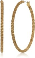 Diane von Furstenberg Thea Chain Wrapped Hoop Earrings