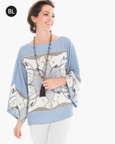 Chico's Scarf-Print Blouse