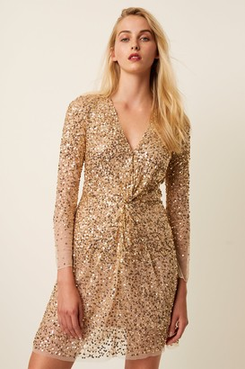 French Connenction Emille Sequin Mini Dress