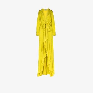 Silvia Tcherassi Albarella tie waist maxi dress