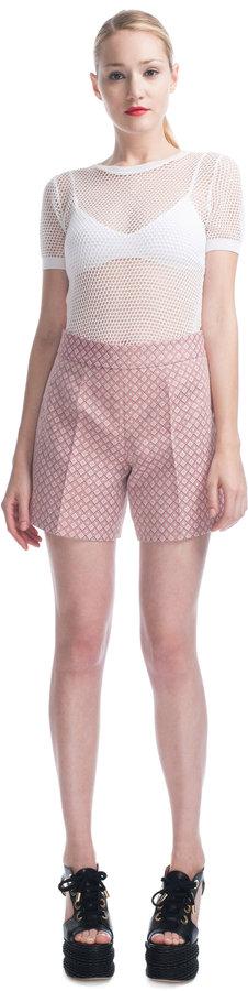 Moschino Cheap & Chic Geometric Jacquard Shorts