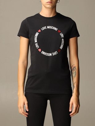 Love Moschino T-shirt Cotton T-shirt With Circular Print