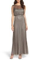 Adrianna Papell Women's Beaded Mesh Blouson Gown