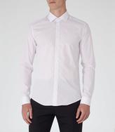 Reiss Hustler Slim-fit Polka Dot Shirt White