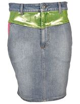 Jeremy Scott Adidas By Panelled Denim Skirt