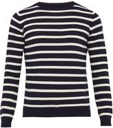 mens navy white stripe sweater - ShopStyle