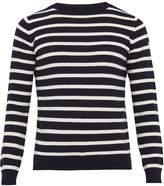 mens navy white stripe sweater - ShopStyle