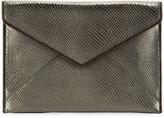 Rebecca Minkoff Leo Snake-Print Leather Clutch Bag