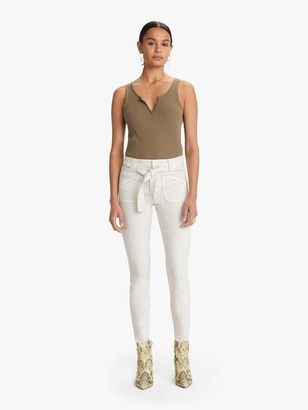 Mother The Tie Patch Looker - Ivory