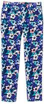 Gymboree Blue & Pink Floral Corduroy Pants - Girls