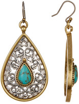 Lucky Brand Etched Turquoise Drop Earrings