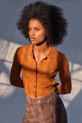 Urban Outfitters Poppi Button-Front Polo Top