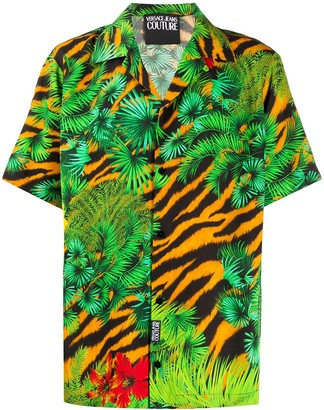 Versace Jungle Print Short Sleeved Shirt