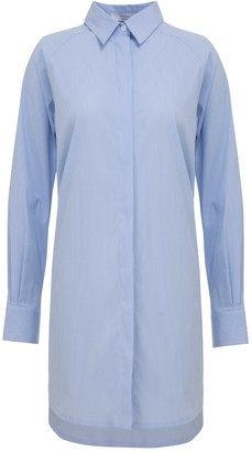 A Line Clothing Essential04 Blue Overshirt