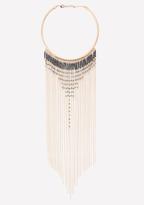 Bebe Seed Bead Fringe Necklace