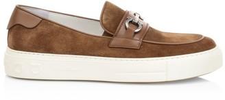 Salvatore Ferragamo Saturday Slip-On Leather Sneakers
