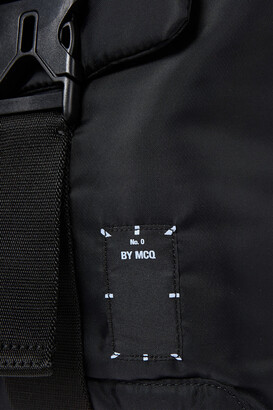 McQ Icon Zero Leather-trimmed Appliqued Shell Backpack