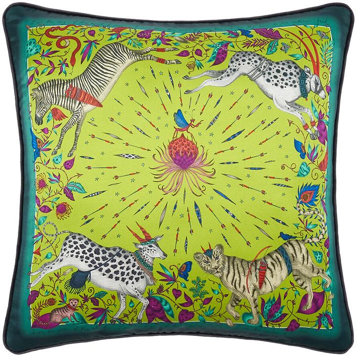Emma J Shipley - Protea Cushion - 45x45cm - Lime