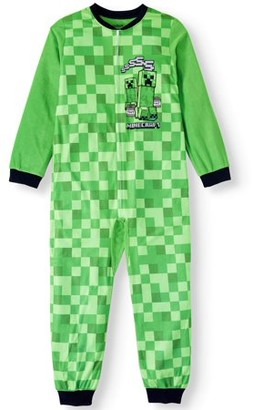 Minecraft Boys' Onesie Pajama Sleeper (Little Boy & Big Boy)