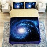 LELVA® LELVA Galaxy Quilt Cover Galaxy Duvet Cover Galaxy Sheets Space Sheets Outer Space Bedding Set Galactic Cosmic Bedding Full Queen Size