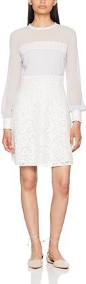 Elise Ryan Women's Lace Skirt with Chiffon and Crochet Band Dress