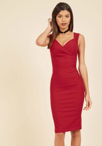 Rock Steady/Steady Clothing In Lady Love Song Sheath Dress in Ruby