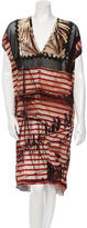 Jean Paul Gaultier Mesh Printed Dress