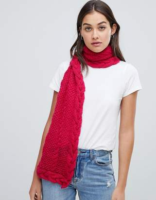 People Tree Hand Knitted Scarf-Pink
