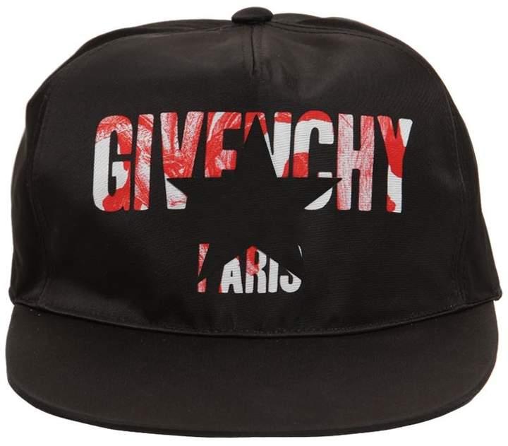Givenchy Iris Logo Print Nylon Baseball Hat