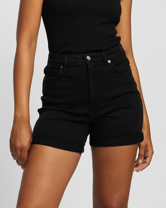 Lee Women's Black Denim - Girlfriend Shorts - Size 6 at The Iconic