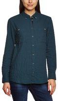 Esprit edc by Women's Shirt-blouse Classic Long - regularBlouse Green Grün (301 DARK CYAN GREEN)